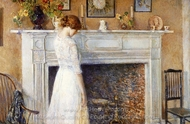 In the Old House painting reproduction, Childe Hassam