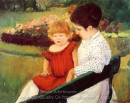In the Park painting reproduction, Mary Cassatt