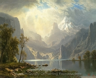 In the Sierras, Lake Tahoe painting reproduction, Albert Bierstadt