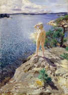 In the Skerries painting reproduction, Anders Zorn