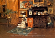 In the Studio painting reproduction, William Merritt Chase