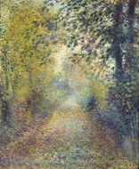 In the Woods painting reproduction, Pierre-Auguste Renoir