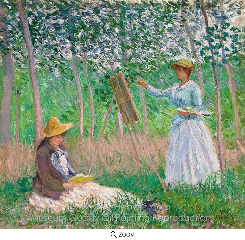 Claude Monet, In the Woods at Giverny oil painting reproduction