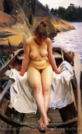 In Werner's Rowing Boat painting reproduction, Anders Zorn