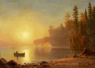 Indian Canoe painting reproduction, Albert Bierstadt