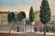 Infant Funeral Procession painting reproduction, William P. Chappel