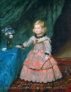 Infanta Margarita painting reproduction, Diego Velazquez