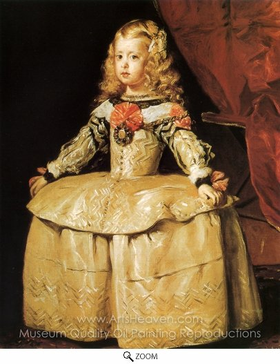 Diego Velazquez, Infanta Margarita oil painting reproduction