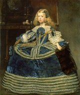 Infanta Margarita in a Blue Dress painting reproduction, Diego Velazquez