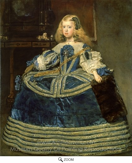 Diego Velazquez, Infanta Margarita in a Blue Dress oil painting reproduction