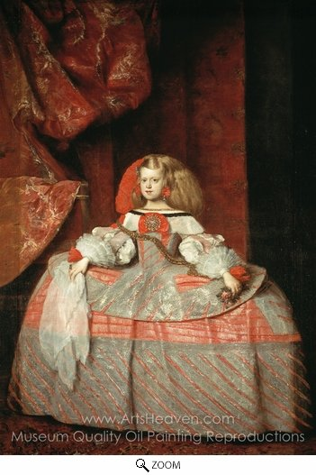 Diego Velazquez, Infanta Margarita in Pink and Silver oil painting reproduction