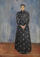 Inger in Black and Violet painting reproduction, Edvard Munch
