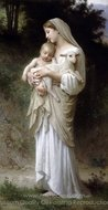 Innocence (L'innocence) painting reproduction, William A. Bouguereau