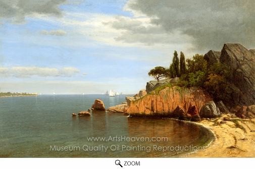 James Renwick Brevoort, Inside Eastern Point, Gloucester Bay oil painting reproduction