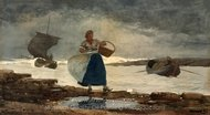 Inside the Bar painting reproduction, Winslow Homer