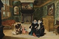"Interior, Called ""Rubens' salon"" painting reproduction, Frans Francken"
