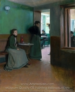 Interior of a Cafe painting reproduction, Santiago Rusinol
