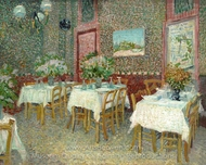 Interior of a Restaurant painting reproduction, Vincent Van Gogh