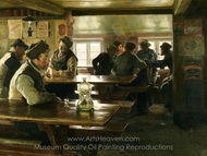 Interior of a Tavern painting reproduction, Peder Severin Kroyer