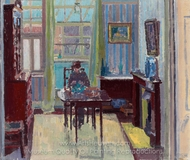 Interior of Room at 6 Cambrian Road, Richmond painting reproduction, Spencer Frederick Gore
