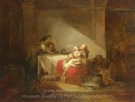 Interior Scene painting reproduction, Jean-Honore Fragonard