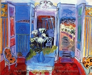 Interior with Open Windows painting reproduction, Raoul Dufy