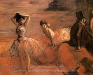Interlude painting reproduction, Jean-Louis Forain