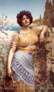 Ionian Dancing Girl painting reproduction, John William Godward