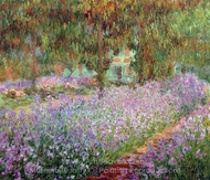 Irises in Monet's Garden painting reproduction, Claude Monet