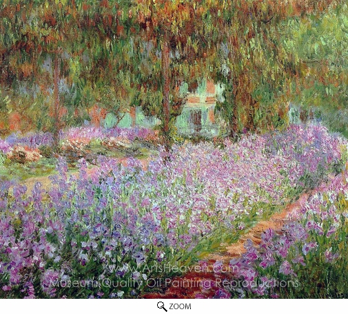Claude Monet, Irises in Monet's Garden oil painting reproduction