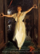 Isabella Stewart Gardner in Venice painting reproduction, Anders Zorn