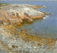 Isles of Shoals, Broad Cove painting reproduction, Childe Hassam