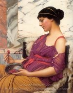 Ismenia painting reproduction, John William Godward