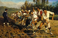 Italian Field Laborers, Abruzzo painting reproduction, Peder Severin Kroyer