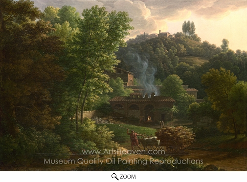 Francois-Xavier Fabre, Italian Landscape oil painting reproduction