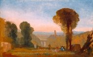 Italian Landscape with Bridge and Tower painting reproduction, Joseph M. W. Turner