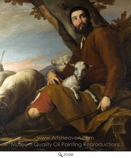 Jusepe De Ribera, Jacob with the Flock of Laban oil painting reproduction
