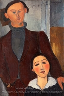 Jacques and Berthe Lipchitz painting reproduction, Amedeo Modigliani