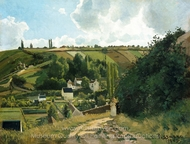 Jalais Hill, Pontoise painting reproduction, Camille Pissarro