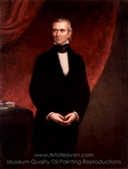 James Knox Polk painting reproduction, George P. A. Healy