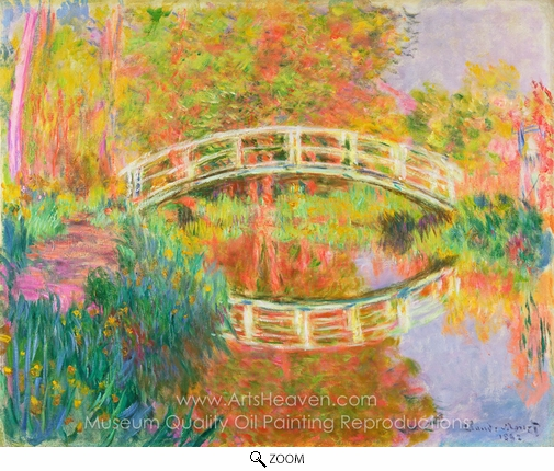 Claude Monet, Japanese Footbridge, Giverny oil painting reproduction