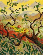 Japanese Style Landscape painting reproduction, Paul Ranson