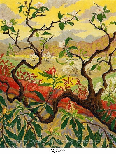 Paul Ranson, Japanese Style Landscape oil painting reproduction