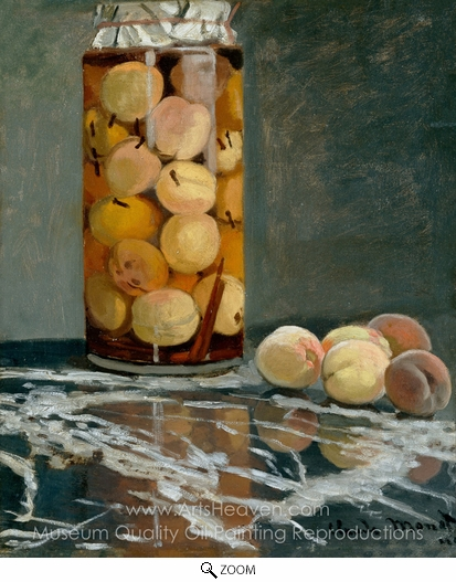Claude Monet, Jar of Peaches oil painting reproduction