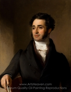 Jared Sparks painting reproduction, Thomas Sully