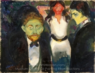 Jealousy painting reproduction, Edvard Munch