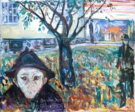 Jealousy in the Garden painting reproduction, Edvard Munch