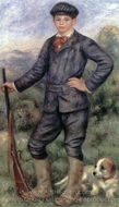 Jean Renoir as a Hunter painting reproduction, Pierre-Auguste Renoir