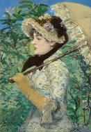 Jeanne painting reproduction, �douard Manet