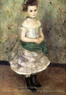 Jeanne Durand-Ruel painting reproduction, Pierre-Auguste Renoir
